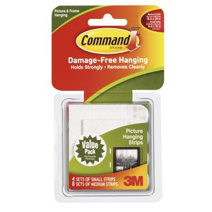 Command Small and Medium Picture Hanging Strips Value Pack