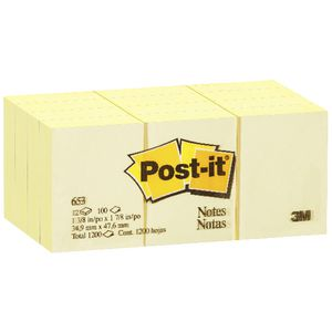 Post-it Notes 35 x 48mm Yellow 12 Pack