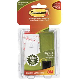 Command Sawtooth Picture Hooks Value Pack