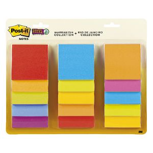 Post-it Super Sticky Notes 76 x 76mm Assorted 15 Pack