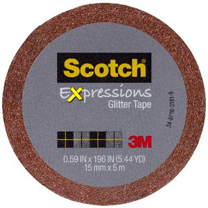 Scotch Expressions Glitter Tape 15mm x 5m Orange