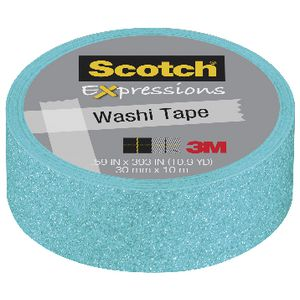 Scotch Expressions Glitter Tape 15mm x 5m Light Blue