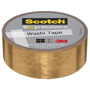 Scotch Expressions Foil Tape 15mm x 7m Gold