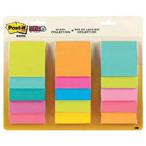 Post-it Super Sticky Notes Assorted | Tuggl