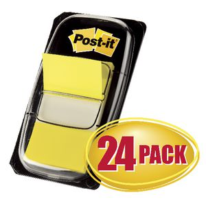 Post-it Flags Yellow 24 Pack
