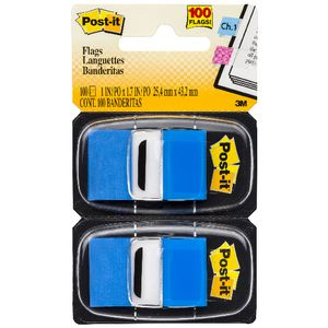 3M Post-it Flags Twin Pack Blue