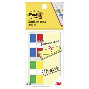 Post-it Portable Mini Flags Assorted 4 Pack