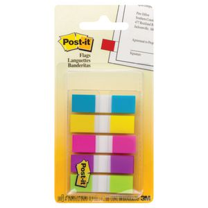 3M Post-it Mini Flags Assorted 5 Pack