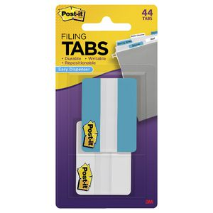 Post-it Tabs 50 x 38mm Aqua/White 2 Pack