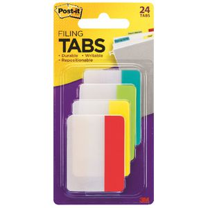 Post-it Durable Tabs 50 x38mm Assorted 4 Pack