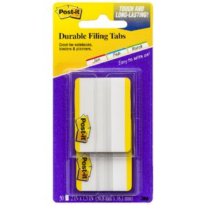 3M Post-it Durable Filing Tabs Yellow 50 Pack
