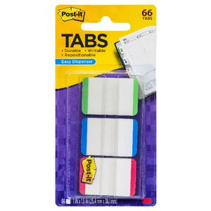 Post-it Durable Filing Tabs Colour Border 3 Pack