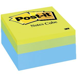 Post-it Notes Cube 76 x 76mm Green Wave