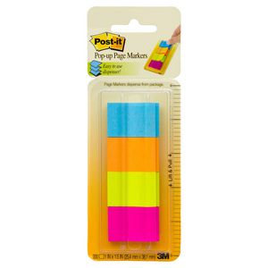 Post-it 25mm x 38mm Pop-Up Page Markers Ultra 4 Pack