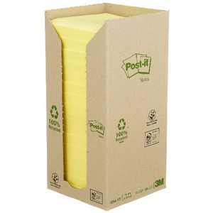 Post-it Recycled Notes Yellow 16 Pack