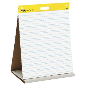 Post-it Tabletop Primary Ruled Easel Pad