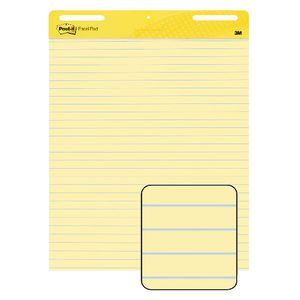 Post-it Ruled Easel Pad 635 x 775mm Yellow