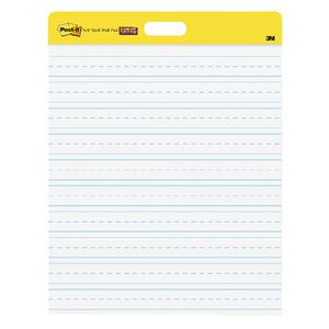 Post-it Primary Ruled Self-Stick Wall Pad 508x584mm