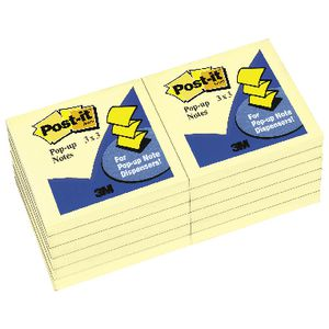 Post-it Pop-up Notes Refill Yellow 12 Pack