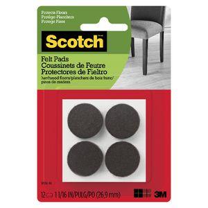 Scotch Felt Pads 2 5cm Brown 12 Pack Officeworks