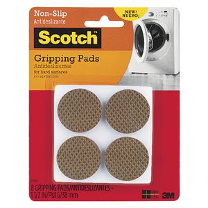 Scotch Soft Gripping Pads 3.8cm Brown 8 Pack