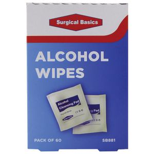 Surgical Basics Alcohol Wipes 60 Pack