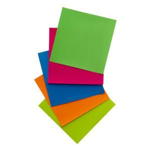 Jasart Paper Squares 127mm Fluoro Assorted 100 Pack