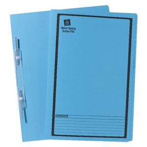 Avery Foolscap Spiral Spring File Blue 25 Pack