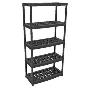 Ezy Storage 5 Tier Plastic Shelf 90 x 44.5cm