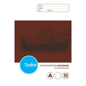 Tudor B5 NSW Student Notebook Dark Brown