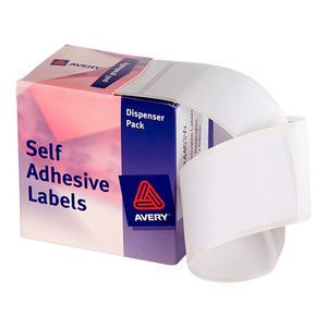 Avery Dispenser Labels Rectangle 44 x 63mm White 150 Pack