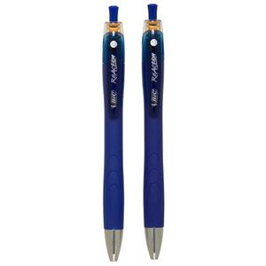 BIC ReAction Ballpoint Pens Blue 2 Pack