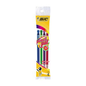 BIC Pencil Pal 0.7 mm Mechanical Pencil Assorted 4 Pack