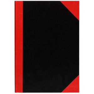 Cumberland A6 Notebook Red and Black 200 Page