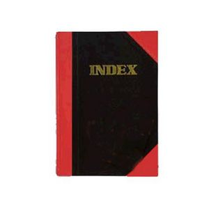 Cumberland A4 Red and Black Notebook Index