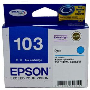 Epson 103 Extra High Capacity Ink Cartridge Cyan