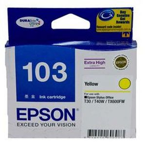 Epson 103 Extra High Capacity Ink Cartridge Yellow