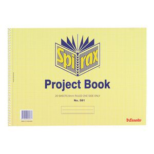 Spirax No. 581 Project Book 40 Page