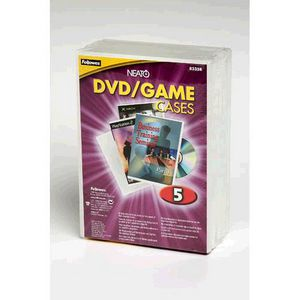Fellowes Frost DVD Cases 5 Pack
