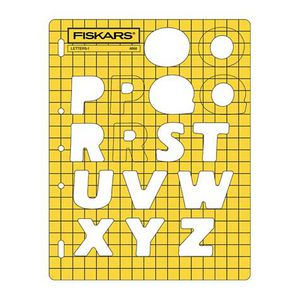Fiskars Letters and Numbers Template