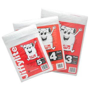 Jiffy Lite Padded Mailing Bags 215 x 280mm 4 Pack