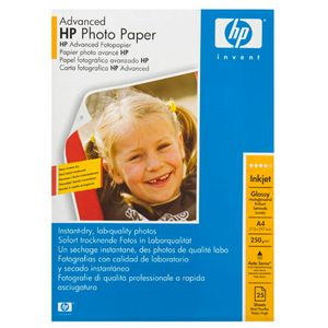 HP 250gsm A4 Advanced Glossy Photo Paper 25 Sheet Pack