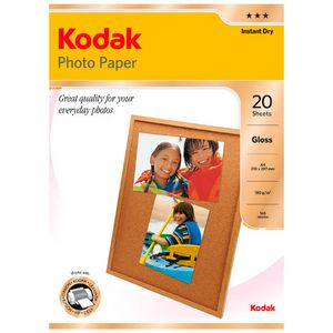 Kodak A4 Gloss Photo Paper 20 Pack