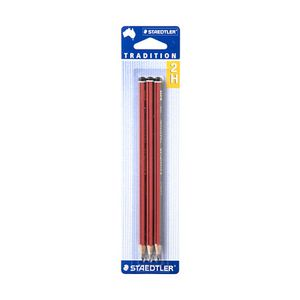 Staedtler Tradition Pencils 2H 3 Pack