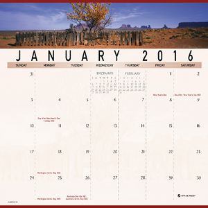 At A Glance Landscape Monthly Calendar 2016