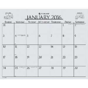 At A Glance Business Monthly Wall Board Calendar 2016