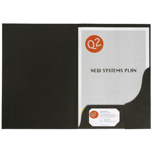 Marbig A4 Presentation Folder Leathergrain Black 20 Pack