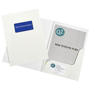 Marbig A4 Presentation Folders with Window 10 Pack