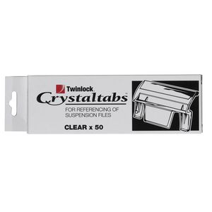 Crystalfile Indicator Tab Clear 50 Pack
