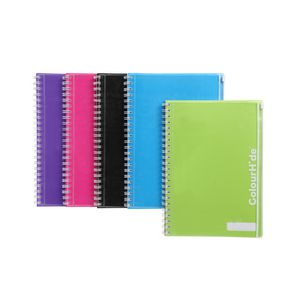 ColourHide My A4 Notebook with Clear Case Assorted